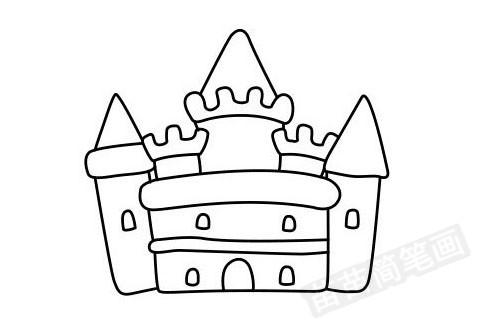 城堡简笔画图片大全 画法
