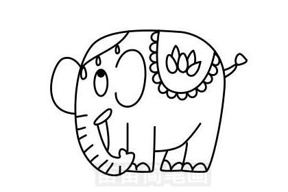 大象简笔画怎么画 图片大全