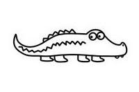 鳄鱼简笔画图片大全、画法