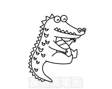 鳄鱼简笔画图片大全 画法