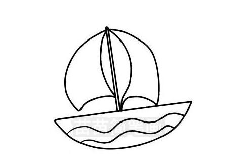 帆船简笔画图片大全作品三
