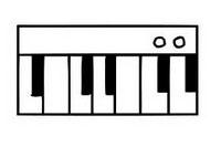 钢琴简笔画图片大全、画法