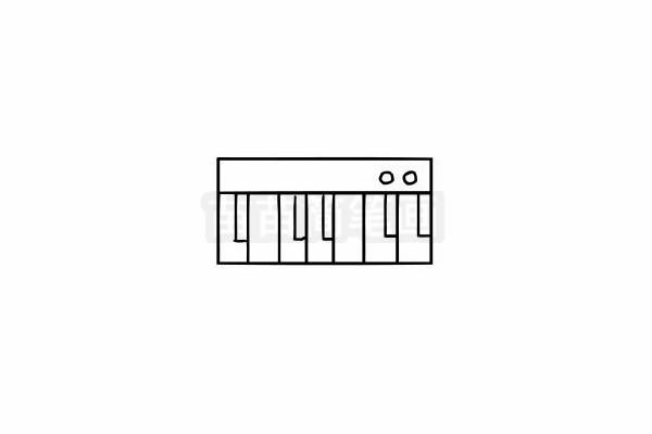 钢琴简笔画图片大全 画法