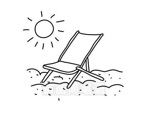 海滩简笔画图片大全作品三
