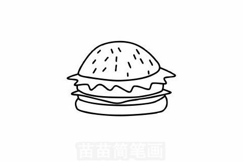汉堡简笔画大图