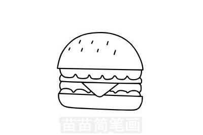 汉堡简笔画图片大全作品一