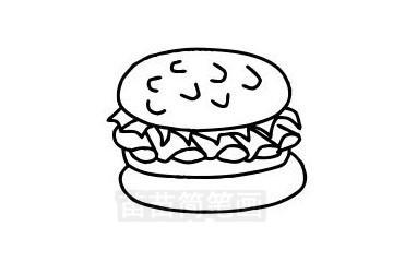 汉堡简笔画图片大全作品三