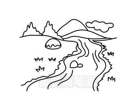 河流简笔画图片大全 教程