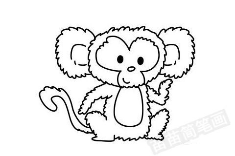 猴子简笔画怎么画 图片大全