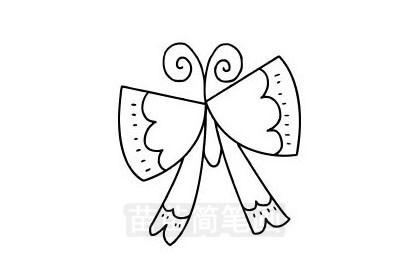 蝴蝶简笔画怎么画 图片大全