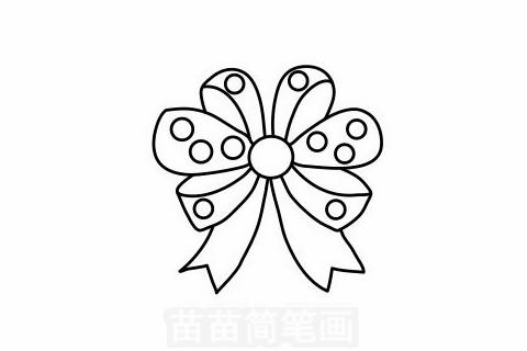 蝴蝶结简笔画大图