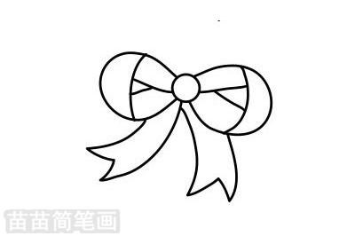 蝴蝶结简笔画图片大全作品二