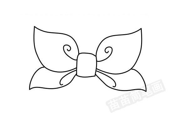 蝴蝶结简笔画图片大全作品四