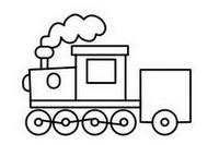 火车简笔画图片大全、画法