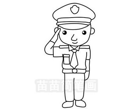 警察叔叔简笔画图片大全,教程图片