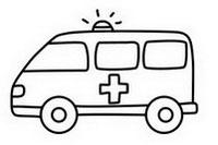 救护车简笔画图片大全、画法