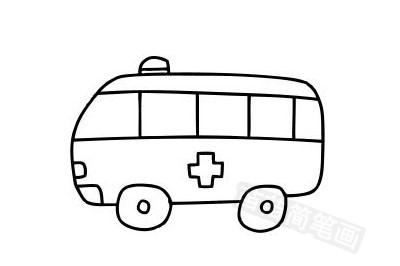 救护车简笔画图片大全作品五