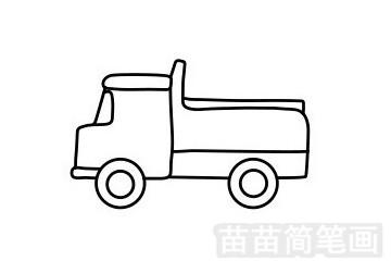 卡车简笔画图片步骤五