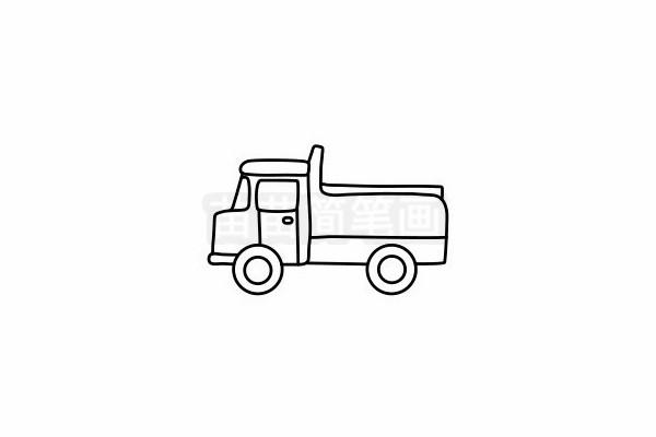 卡车简笔画图片步骤六