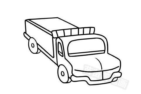 卡车简笔画图片大全作品五