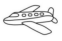 客机简笔画图片大全、教程