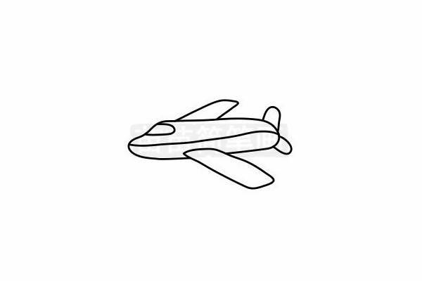 客机简笔画图片步骤六