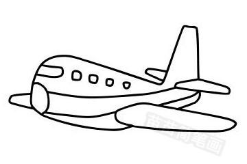 客机简笔画图片大全作品五