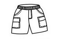 裤子简笔画图片大全、画法