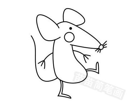老鼠简笔画图片大全 画法