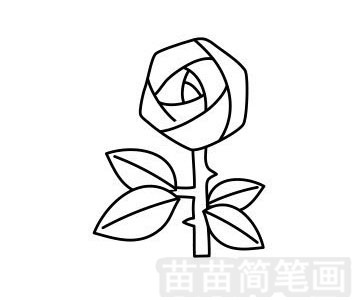 玫瑰花简笔画图片步骤一