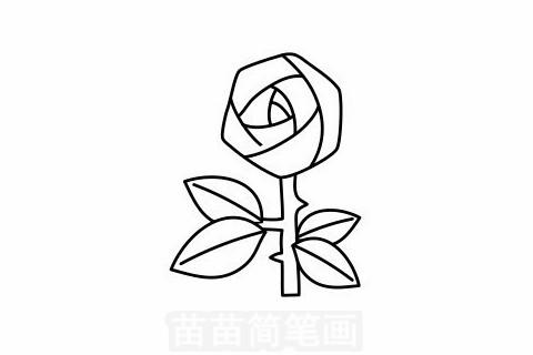 玫瑰花简笔画大图