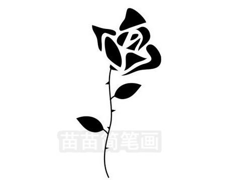 玫瑰花简笔画图片大全作品三