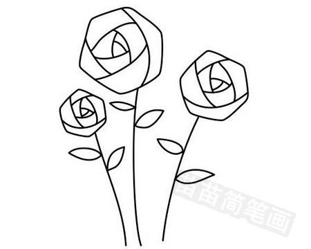 玫瑰花简笔画图片大全作品五