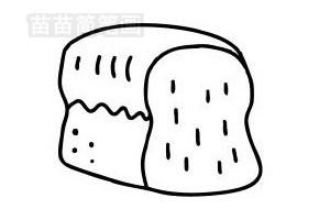 面包简笔画图片步骤一