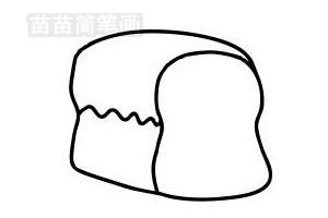 面包简笔画图片步骤五