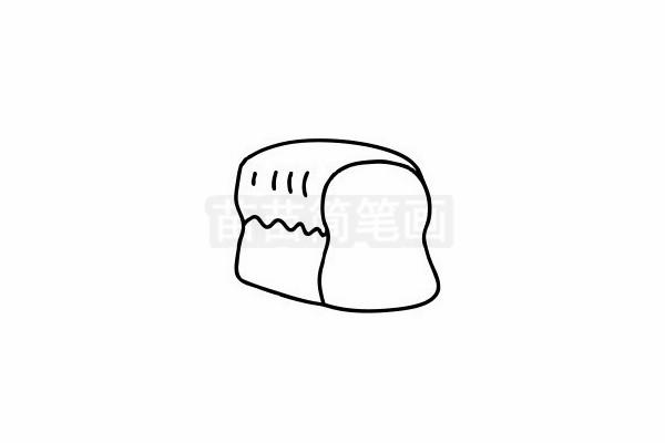 面包简笔画图片步骤六