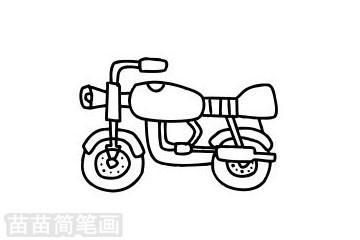 摩托车简笔画图片大全 画法