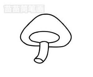 蘑菇简笔画图片步骤五