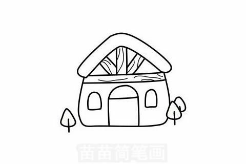木屋简笔画大图