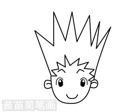 男孩发型简笔画图片大全作品二