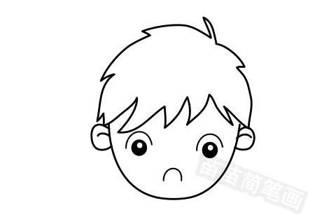 男孩发型简笔画图片大全作品五