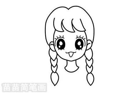 女孩发型简笔画图片大全作品二