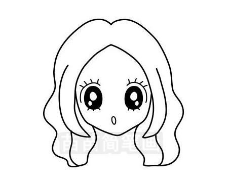 女孩发型简笔画图片大全作品三