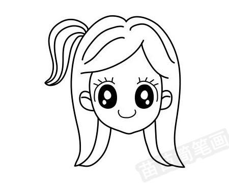 女孩发型简笔画图片大全作品四