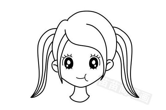女孩发型简笔画图片大全作品五