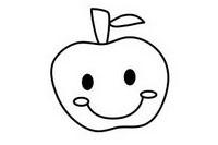 苹果简笔画图片大全、画法