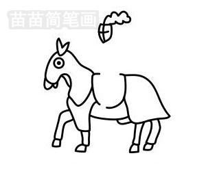 骑士简笔画图片步骤五