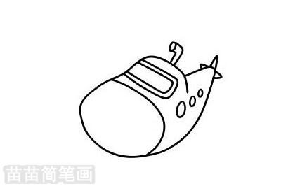 潜水艇简笔画图片大全作品二