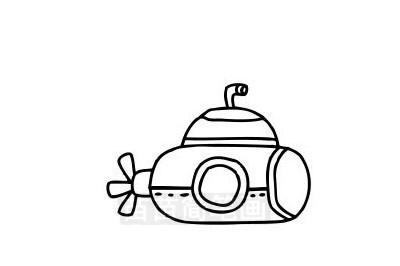 潜水艇简笔画图片大全作品三