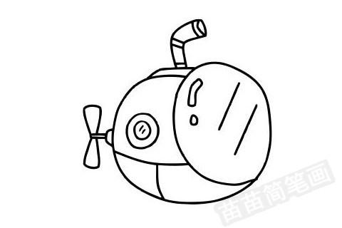 潜水艇简笔画图片大全作品四